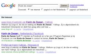 google, karin de zwaan, printscreen