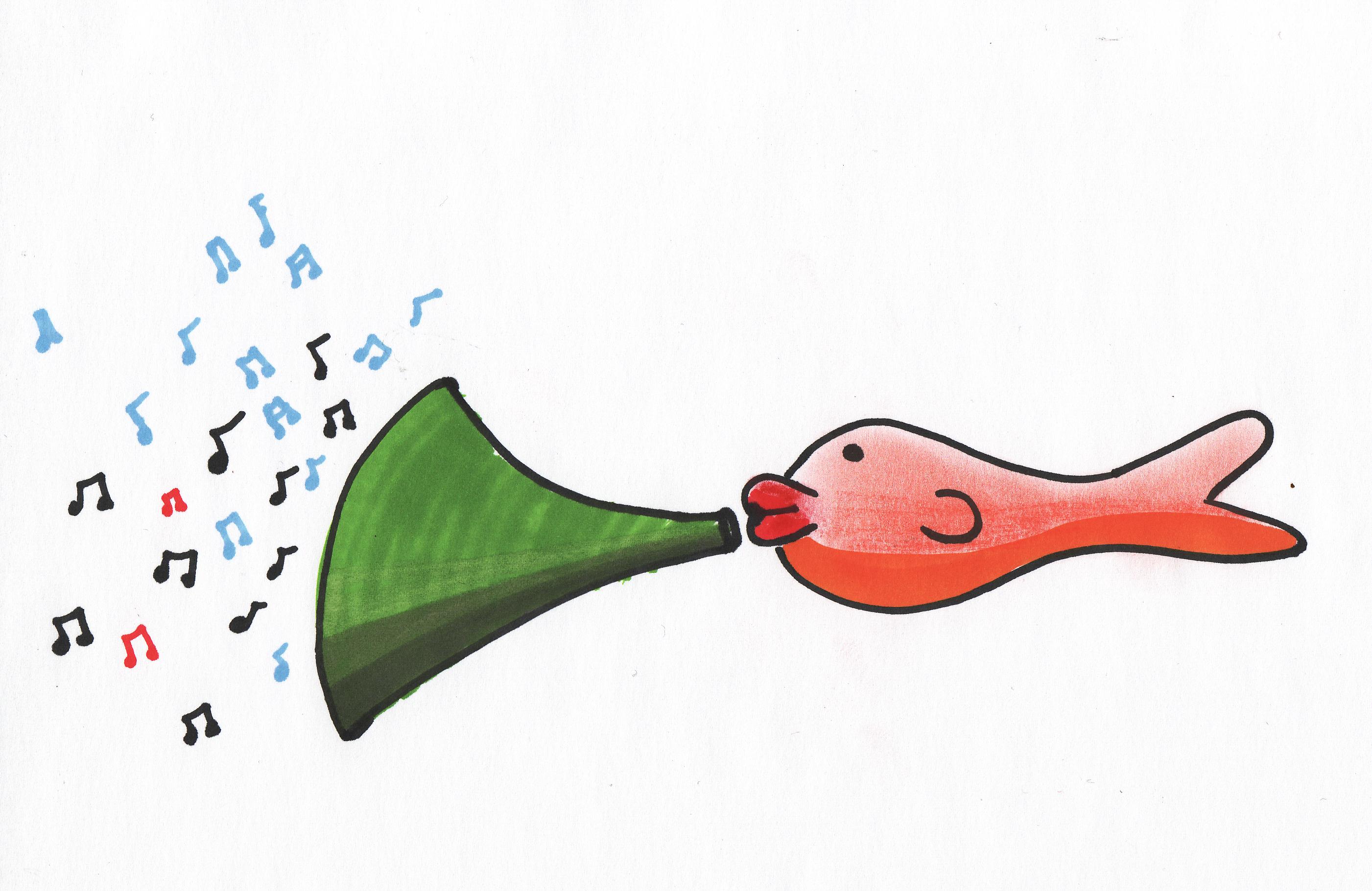 als een vis in de muziek