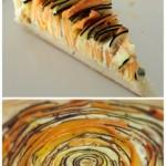 Recept: spiraaltaart van wortel en courgette